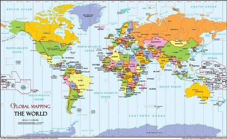 Big Map Of The World  Deboomfotografie